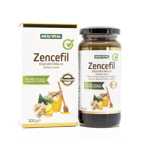 zencefil ekstraktli macun okaliptus ilaveli 300 gr macunlar aksuvital